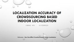 Localization Accuracy of