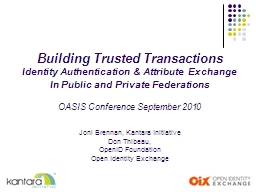 Building Trusted Transactions