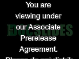 Closed Announcement You are viewing under our Associate Prerelease Agreement. Please do not distrib