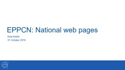 EPPCN: National web pages