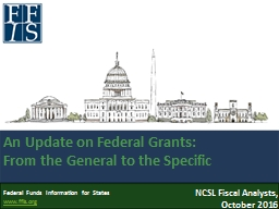 Federal Grants: The Lay of the Land