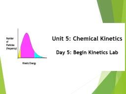 Unit 5: Chemical Kinetics