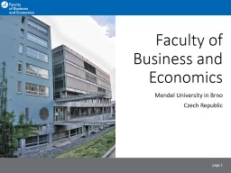 Faculty   of  Business and