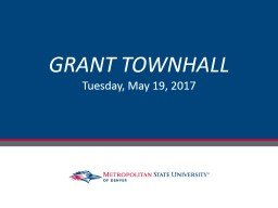 GRANT TOWNHALL Tuesday, May 19, 2017