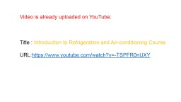 Video is already uploaded on YouTube: