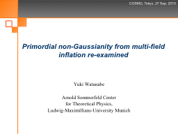 Primordial non- Gaussianity