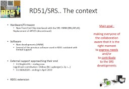 RD51/SRS.. The context Hardware/Firmware