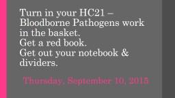 Turn in your HC21 –  Bloodborne