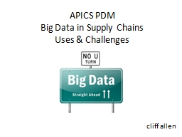 APICS PDM Big Data in Supply Chains