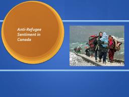 Anti-Refugee Sentiment in Canada