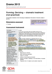 Forming Devising dramatic treatment non practical Thi