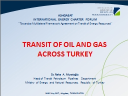 TRANSIT OF OIL AND GAS ACROSS TURKEY