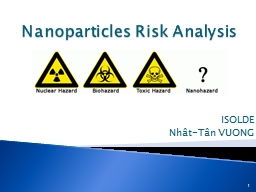 Nanoparticles   Risk   Analysis