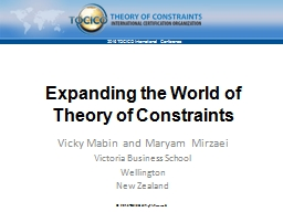Expanding the World of Theory of Constraints