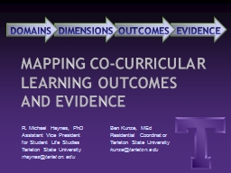 EVIDENCE OUTCOMES DIMENSIONS