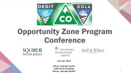 Opportunity Zone Program Conference