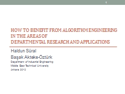 How to benefit from Algorithm Engineering in