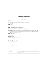 Package dummy May   Type Package Title Automatic Creat