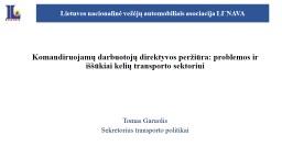 Komandiruojamų darbuotojų direktyvos peržiūra: problemos ir iššūkiai kelių transporto sekto