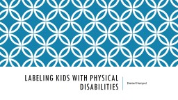 Labeling kids with physical disabilities