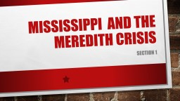 Mississippi  and the Meredith crisis