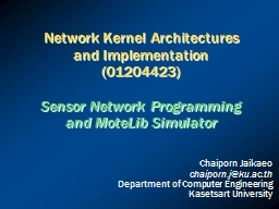 Network Kernel Architectures