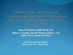 Marital Counseling and Divorce
