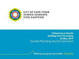 Performance Results   Building Plan Processing