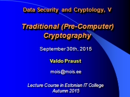 Data Security and Cryptology, V
