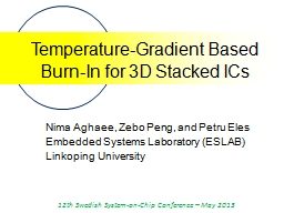 Temperature-Gradient Based Burn-In for 3D Stacked ICs