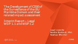 First Interim Report - Legal