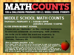Middle School Math Counts