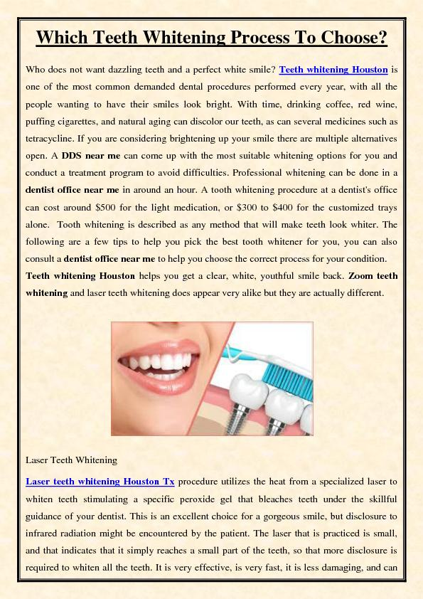 Which teeth whitening process to choose?