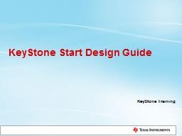 KeyStone  Start  Design Guide