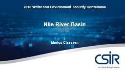 2018 Water and Environment Security Conference