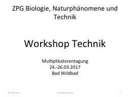 ZPG Biologie, Naturphänomene und Technik