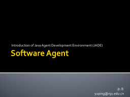 Software Agent Introduction of