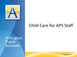 Child Care for APS Staff