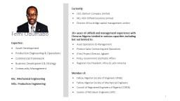 Femi Odumabo Currently CEO, Zenilum Company Limited