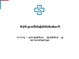 Nýtt greiðsluþátttökukerfi
