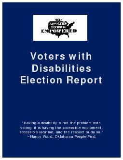 Voters with Disabilities Election Report