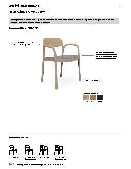 Laru represents a more human approach to typical contract wood chairs,