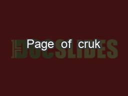 Page  of  cruk