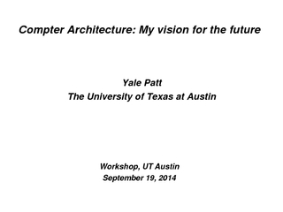 Compter Architecture My vision for the future Yale Pat