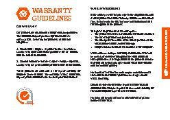 OUR WARRANTYOur products are all sold with a comprehensive guarantee.