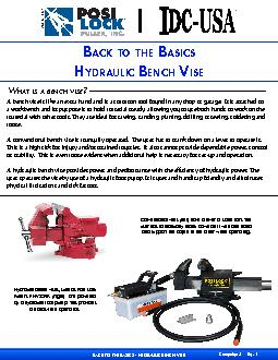 A bench vise is like an extra hand and is a common tool found in any s