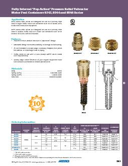 Application8543 Series relief valves are designed for use as a primary