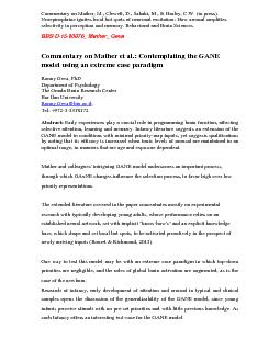Commentary on Mather et