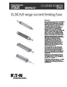 ELSG full-range current-limiting fuse