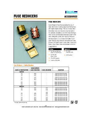 Fuse Reducers – Catalog NumbersFUSE REDUCERS